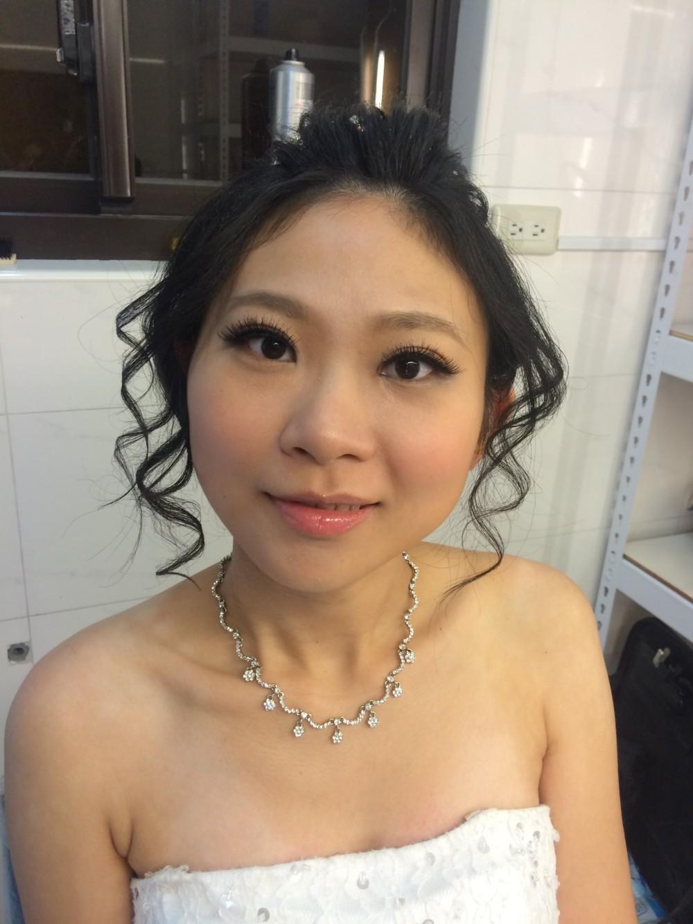 歐式復古|水晶銀飾|高盤髮—台北新秘ADi