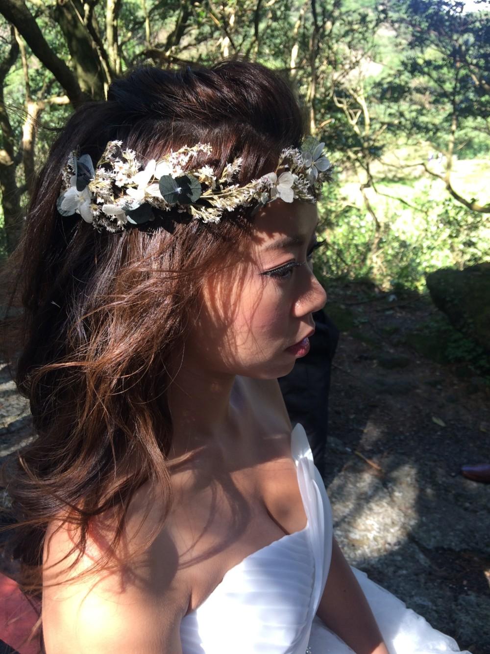 自助婚紗造型|婚紗外拍|乾燥花圈-新祕ADi