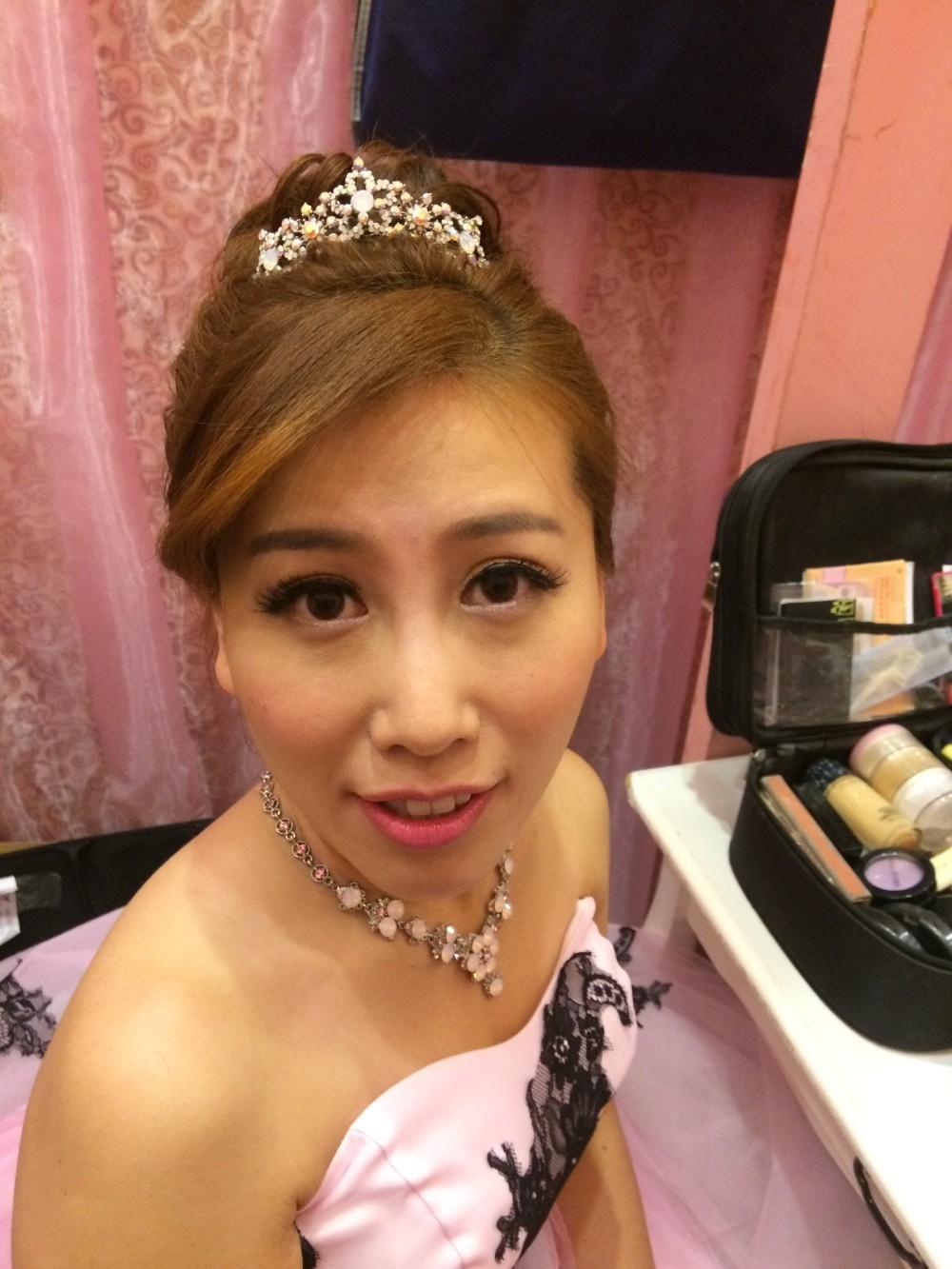 歐式高盤髮造型|貴族奢華風|皇冠新娘造型-新秘ADi