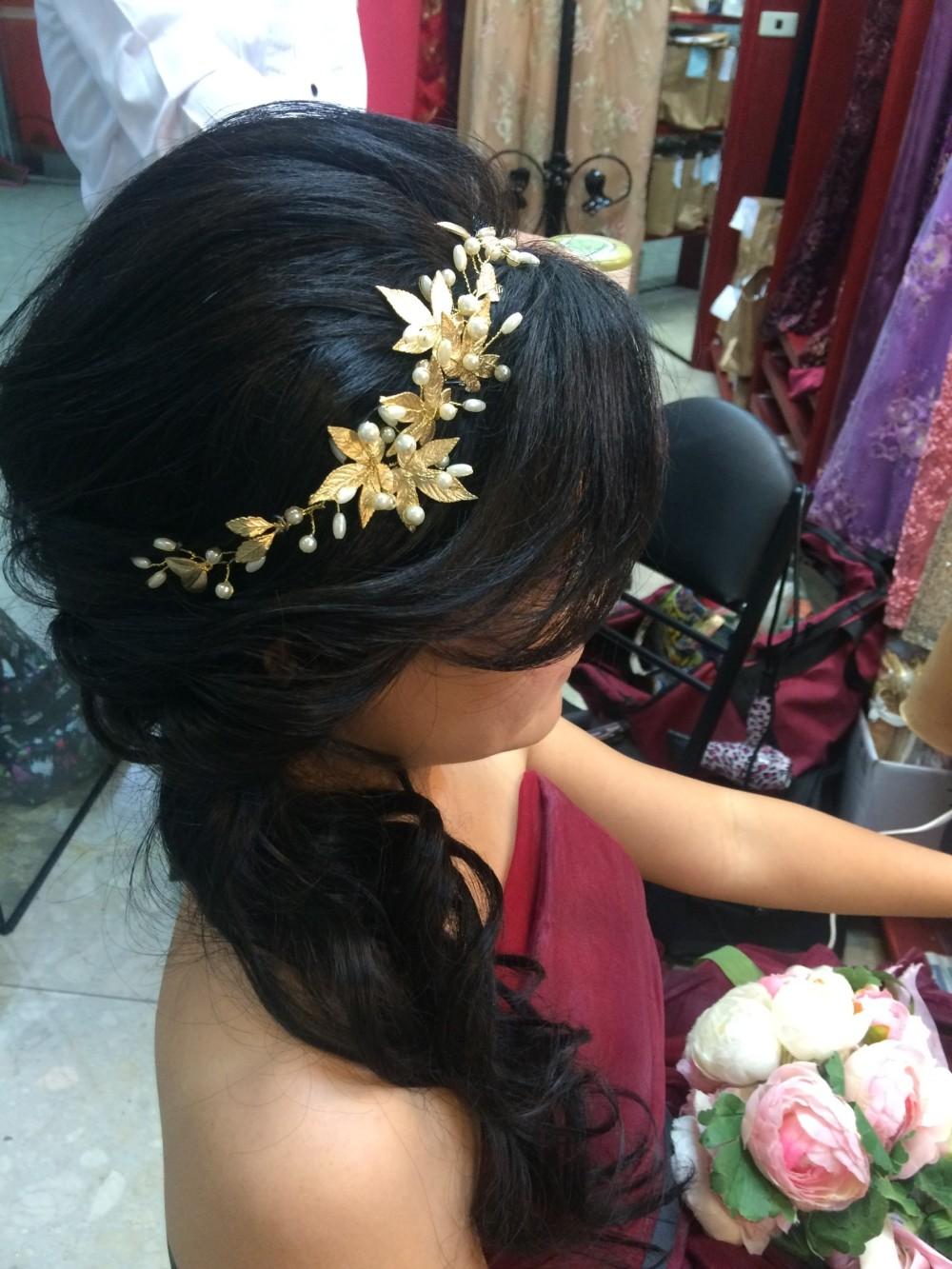 金屬頭飾|禮服妝髮|新娘造型-台北新秘ADi