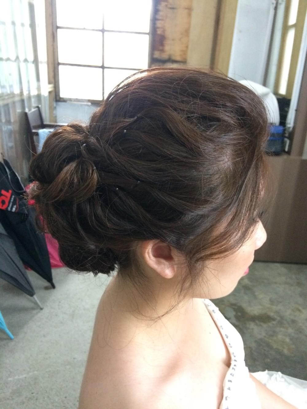 白紗妝髮|清新自然風格|新娘造型—台北新秘ADi