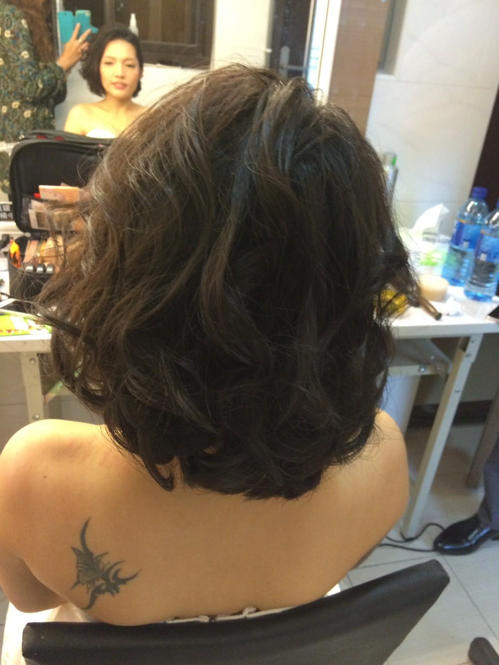 俏麗短髮|新娘造型妝容-台北新秘ADi