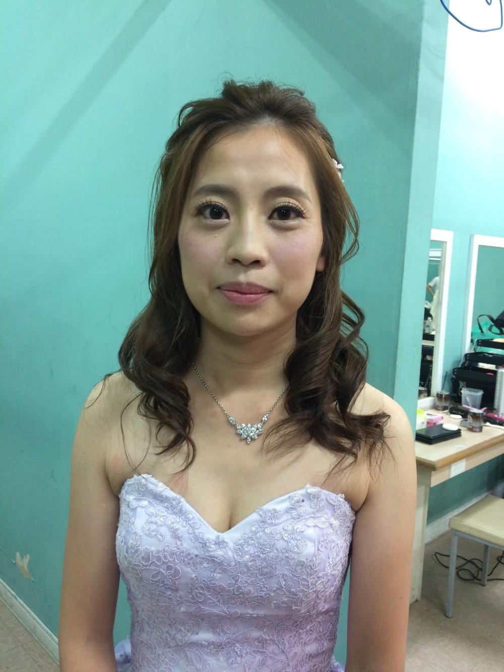 甜美編髮|新娘公主風|婚紗造型-台北新秘ADi