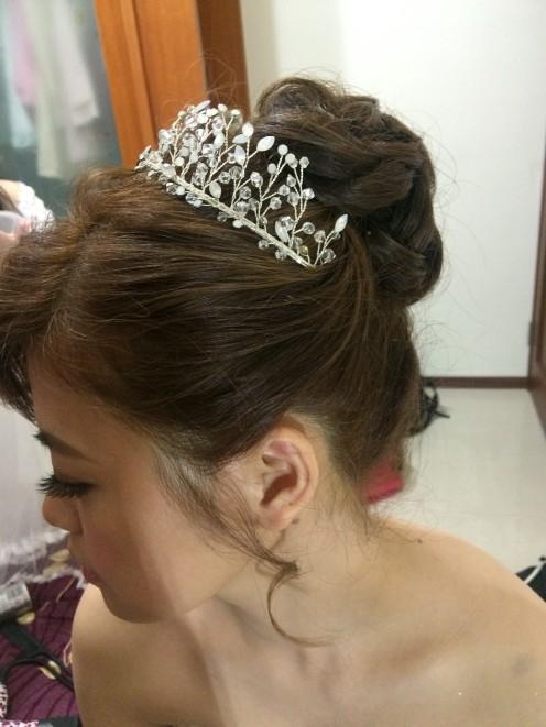 水晶頭飾|高盤髮|迎娶造型-新秘ADi