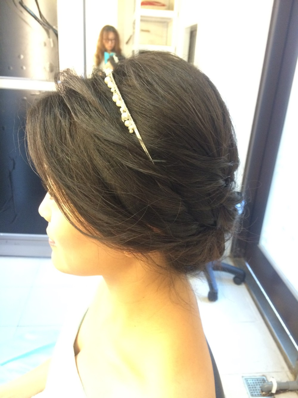 <法式低盤髮><珍珠頭飾><氣質優雅新娘>-新秘ADi