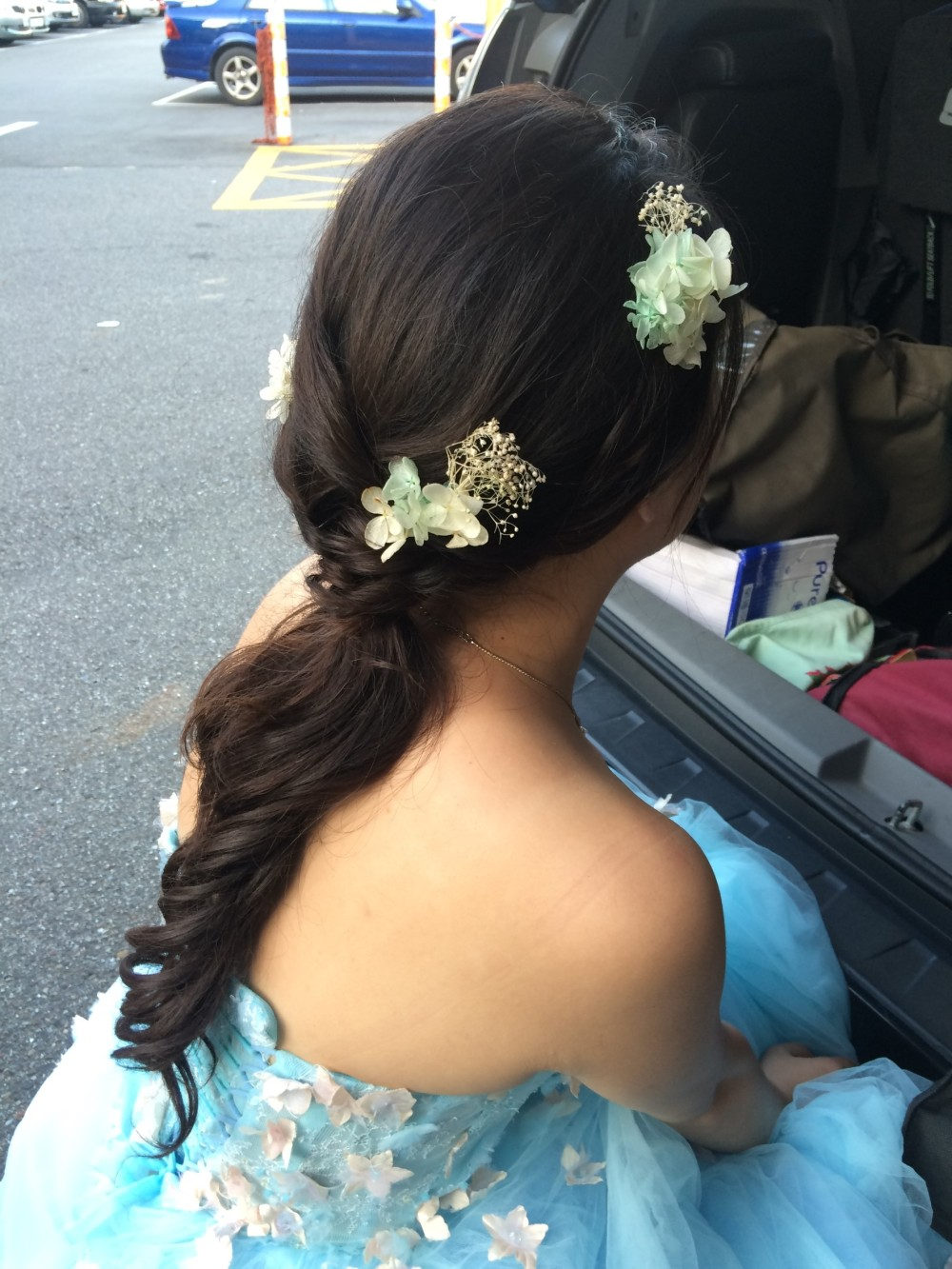 氣質低馬尾|自助婚紗妝髮|新娘造型-台北新秘ADi