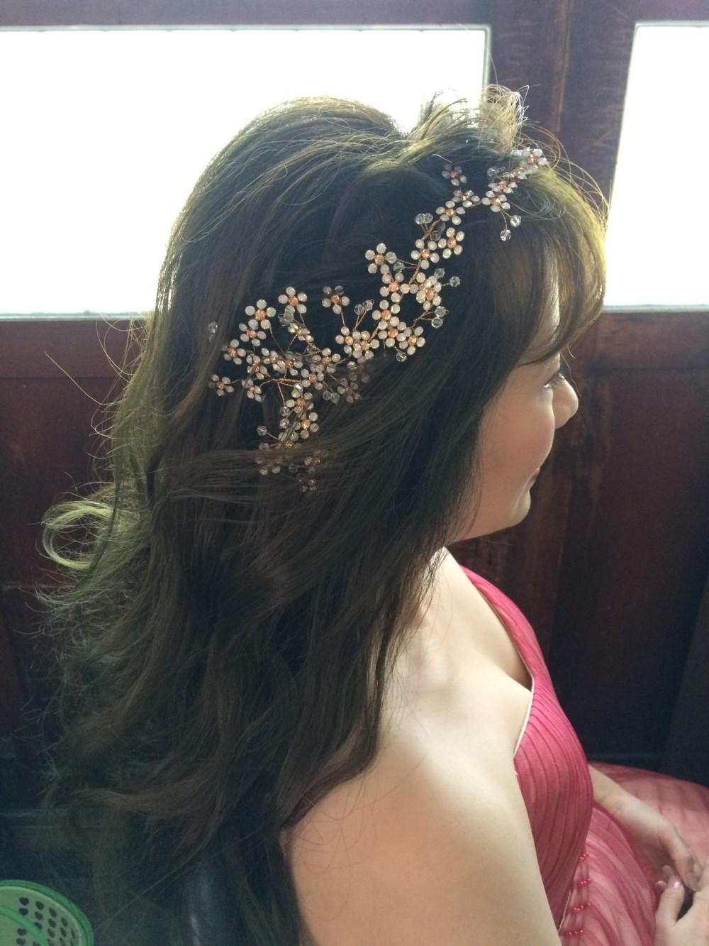 公主風格造型|新娘髮色|婚紗外拍妝髮-台北新秘ADi