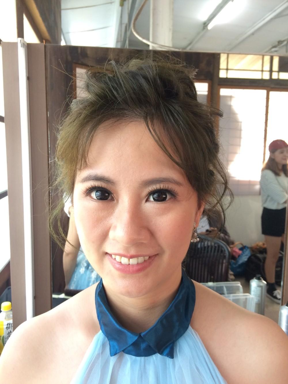 <新娘造型><藍色禮服><高盤髮>-新秘ADi