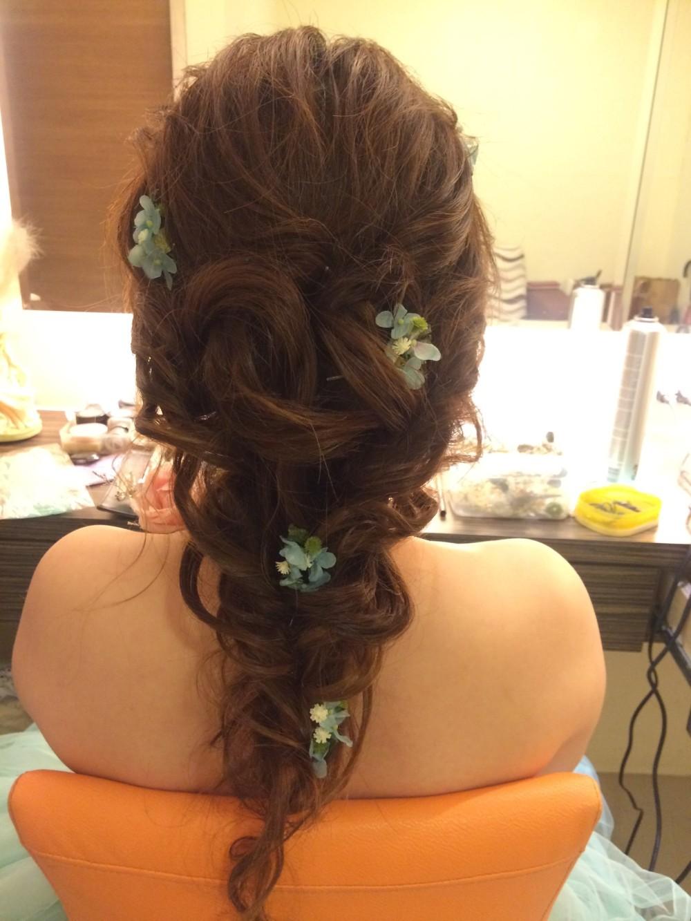 公主編髮|小花髮飾|新娘造型—新秘ADi