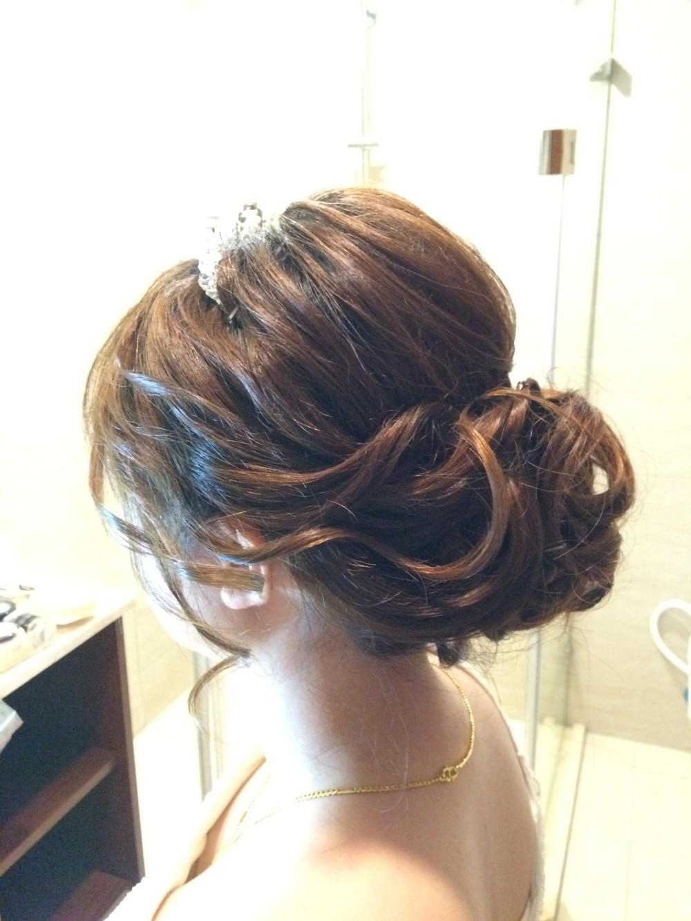 氣質優雅低盤髮|皇冠頭飾|新娘造型-新秘ADi