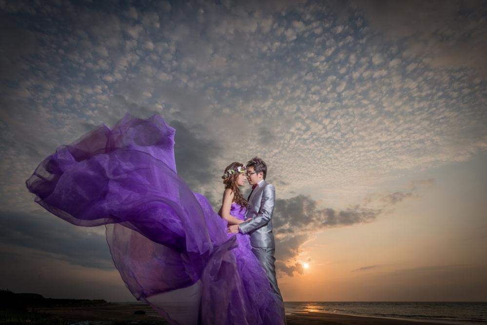 紫禮服外拍婚紗造型-新秘ADi