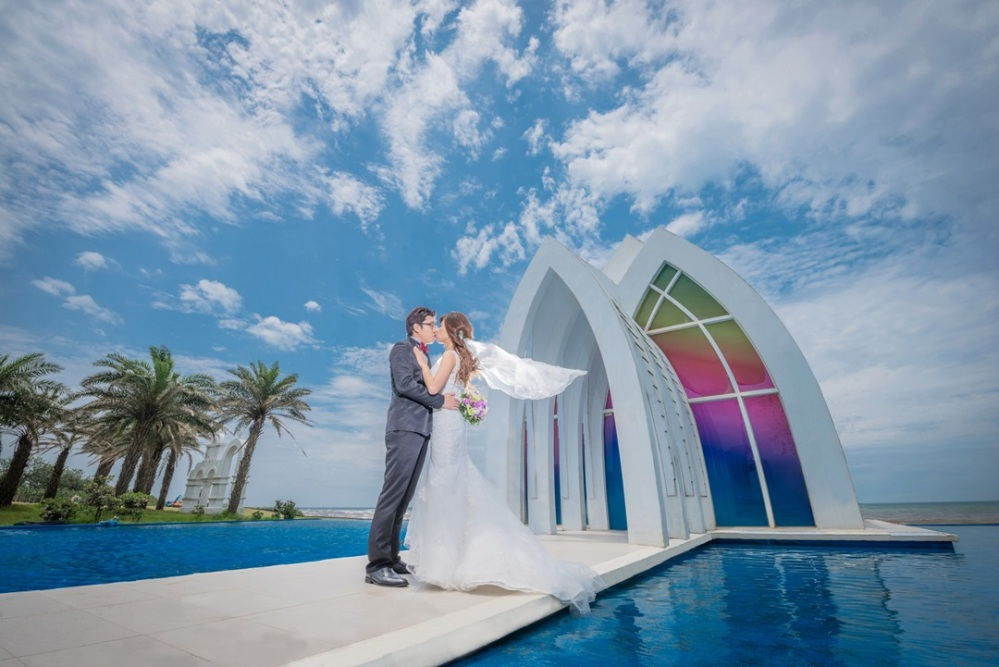 經典白紗|幸福洋溢教堂婚紗-台北新秘ADi